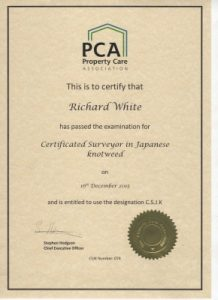 PCA certification South West Knotweed